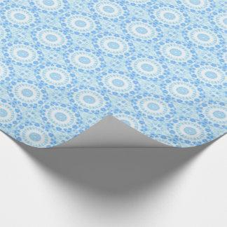 Baby blue kaleidoscopes tiled paper