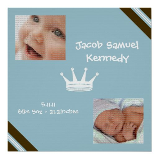 Baby Blue King Collage Wall Art Poster