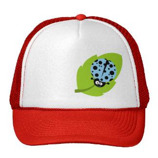 Baby Blue Ladybug Hats