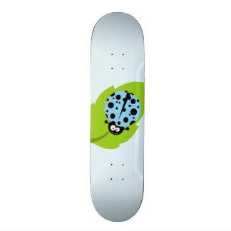 Baby Blue Ladybug Custom Skate Board
