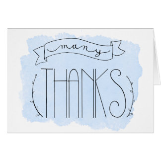 Baby Blue Many Thanks Thank You Card