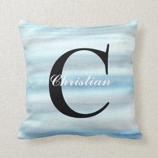 Baby Blue Monogram Cushion