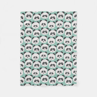 Baby Blue Panda Bear Fleece Blanket