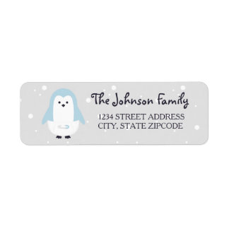 Baby Blue Penguin Return Address Label