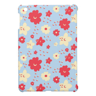 Baby Blue Petal Pink and Cream With Vintage Print Cover For The iPad Mini