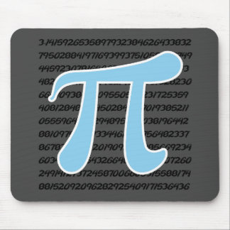 Baby Blue Pi Symbol Mouse Pad