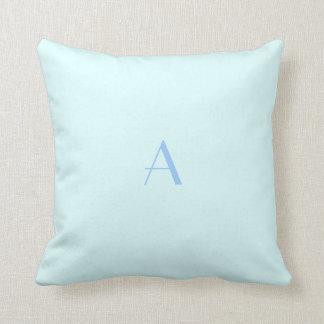 Baby Blue Pillow w Blue Monogram