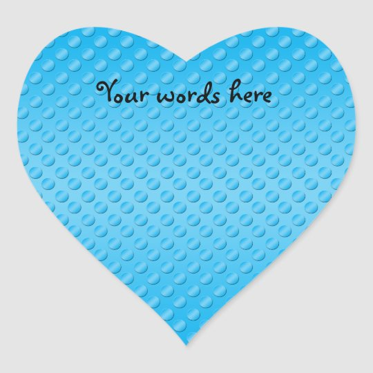 Baby blue polka dot pattern heart sticker
