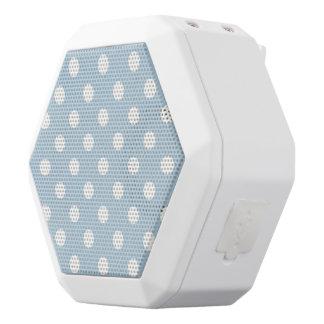 Baby blue, polka dot, white, customizable,cute,fun white boombot rex bluetooth speaker