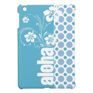 Baby Blue Polka Dots; Aloha Case For The iPad Mini