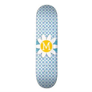 Baby Blue Polka Dots Daisy Skate Board Decks