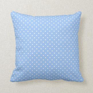 Baby Blue Polka Dots Throw Pillow