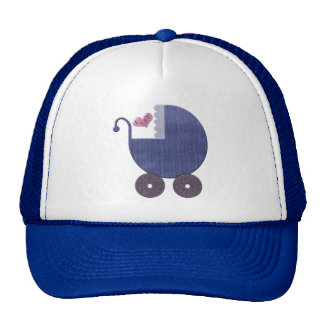 Baby Blue Pram Art Cap