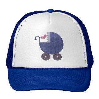 Baby Blue Pram Art Cap