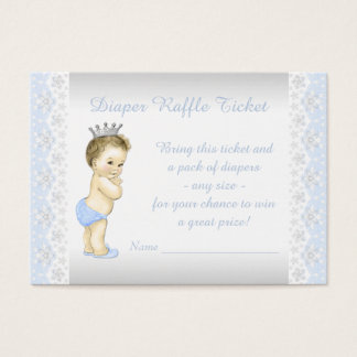 Baby Blue Prince Diaper Raffle Ticket