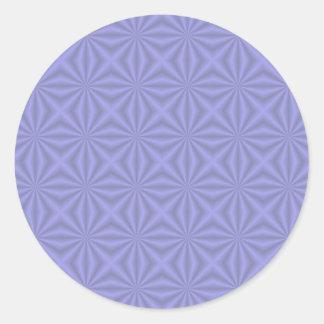 Baby Blue Quilt Pattern Round Sticker