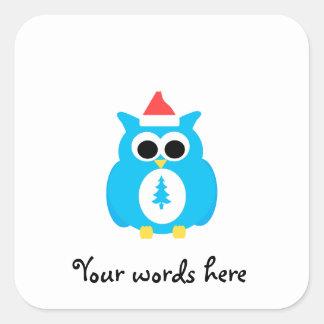 Baby blue santa owl stickers