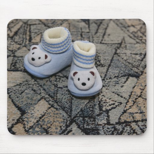 Baby blue shoes mouse pad