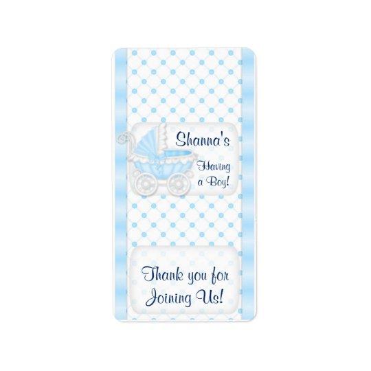 Baby Blue Shower Hersheys Miniature Candy bar wrap Address Label