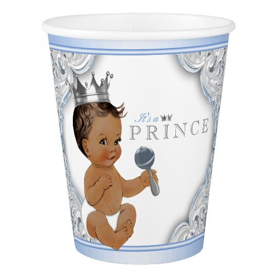 Baby Blue Silver Ethnic Prince Baby Shower