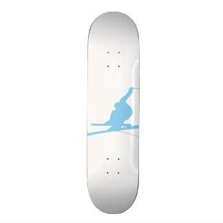 Baby Blue Snow Skiing Skate Board Deck