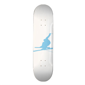 Baby Blue Snow Skiing Skate Board Deck