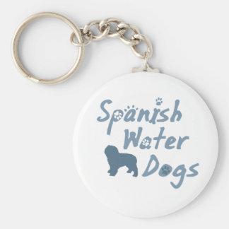 Baby Blue Spanish Water Dog Keychain