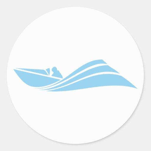 Baby Blue Speed Boat Sticker