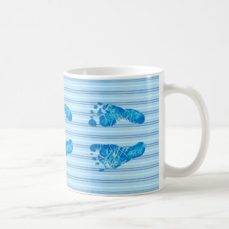 Baby Blue Stripes Basic White Mug
