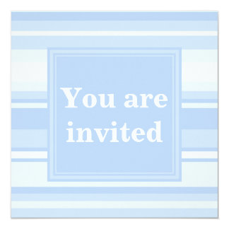 Baby blue stripes simple elegant 13 cm x 13 cm square invitation card