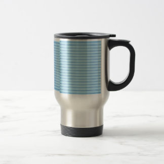 Baby Blue Stripes Stainless Steel Travel Mug