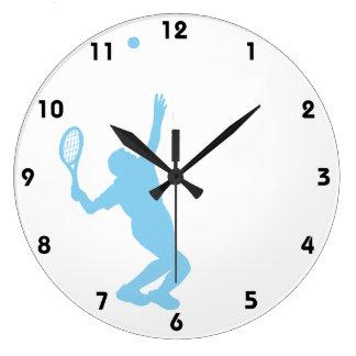 Baby Blue Tennis Clocks