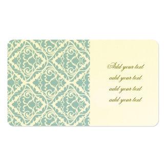 baby blue,vintage damasks,victorian,floral,pattern pack of standard business cards