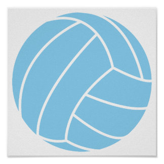 Baby Blue Volleyball Poster