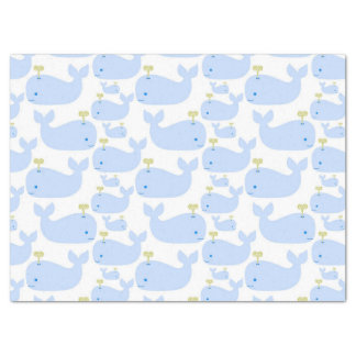 Baby Blue Whales Infant Gift Shower Tissue Paper
