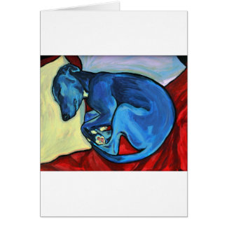 'Baby Blue'  Whippet puppy Greeting Card
