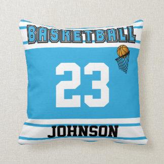 Baby Blue & White Basketball | DIY Name & Number Cushion