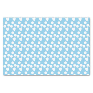 Baby blue white dots & hearts tissue paper