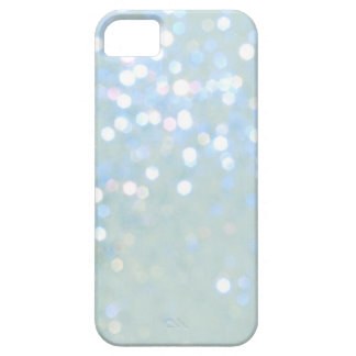 Baby Blue White Glitter iPhone 5 Cover