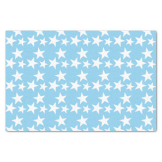 Baby blue with white stars tissue paper