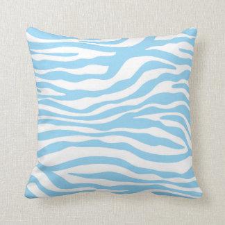 Baby Blue Zebra Animal Print Cushion