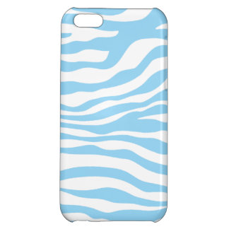 Baby Blue Zebra Animal Print iPhone 5C Covers