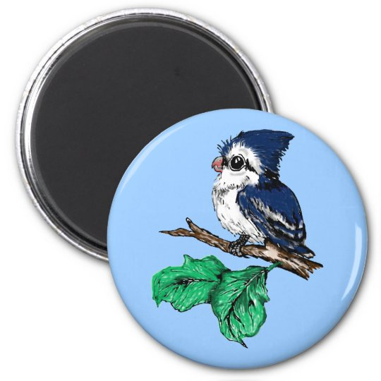 Baby Bluejay Magnet