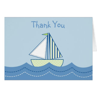 Baby Boats Sail boat Thank You Note Cards