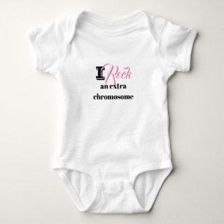 "Baby body suit ""I rock an extra chromosome"" Baby Bodysuit"