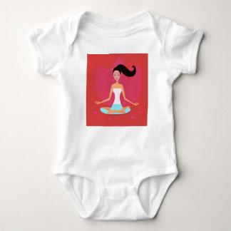 Baby body white with Yoga girl Baby Bodysuit