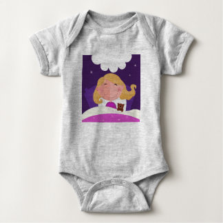 Baby body with sleeping Gold hair girl Baby Bodysuit