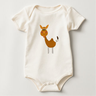 Baby body yellow with Camel brown Baby Bodysuit