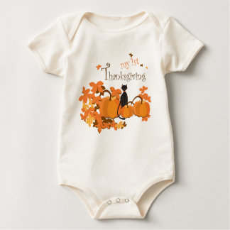 baby bodysuit my first thanksgiving