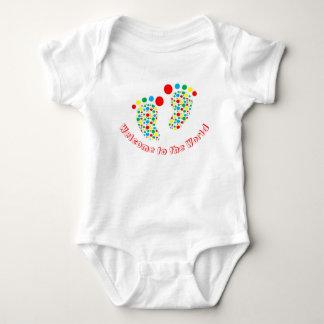 Baby bodysuit, spotty, colourful, gender neutral baby bodysuit